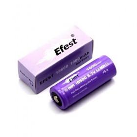 Batteria Efest Purple V1 IMR18500 1000mAh 15A