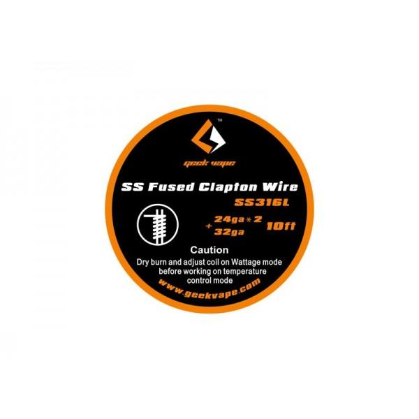 GEEKVAPE - FUSED CLAPTON WIRE SS316 24GAX2+32GA 3MT