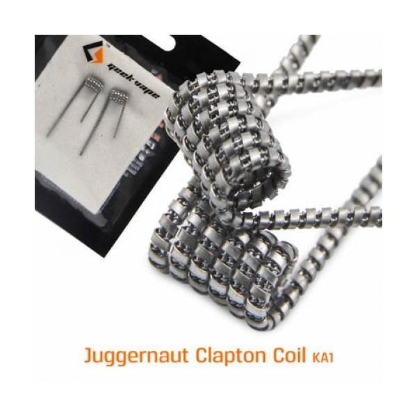 GEEKVAPE - JUGGERNAUT COIL - KANTHAL A1 (28GA+38GA)*2+Ribbon(38GA*24GA) - 0.7HM - 2PZ