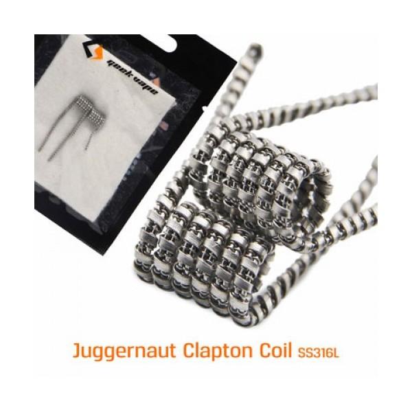 GEEKVAPE - JUGGERNAUT COIL - SS316L (28GA+38GA)*2+Ribbon(38GA*24GA) - 0.4HM - 2PZ