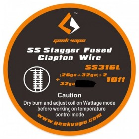 GEEKVAPE - STAGGER FUSED CLAPTON SS316L (26GA+32*2 + 32GA) 3MT