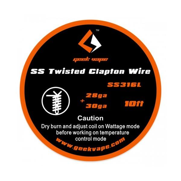 GEEKVAPE - TWISTED CLAPTON SS316 (28GA*2/TWISTED + 30GA) 3MT