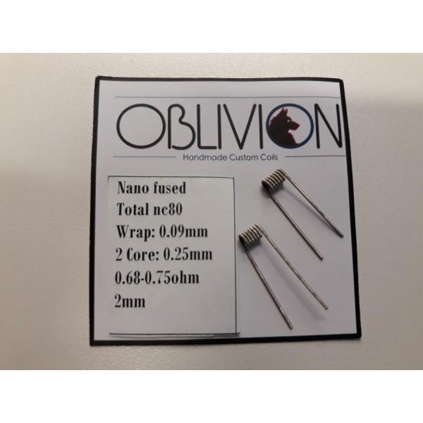 OBLIVION HANDMADE CUSTOM COILS - Nano fused  - 0,68-0,75 ohm