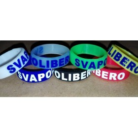 Vapeband Anello in silicone 22mm - Clear