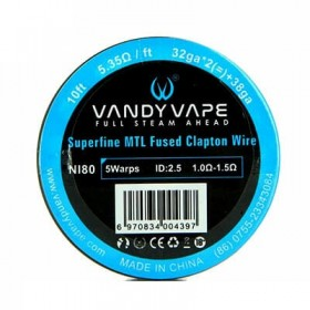 VANDY VAPE - Superfine MTL Fused Clapton Wire  - NI80 32gaX2 + 38ga