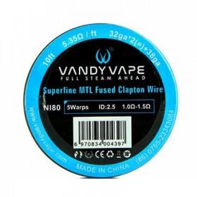 VANDY VAPE - Superfine MTL Fused Clapton Wire  - NI80 32gaX2 + 38ga