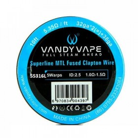 VANDY VAPE - Superfine MTL Fused Clapton Wire  - SS316 32gaX2 + 38ga