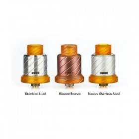 BoomStick Engineering Reaper 18mm MTL RDA – Blasted SS