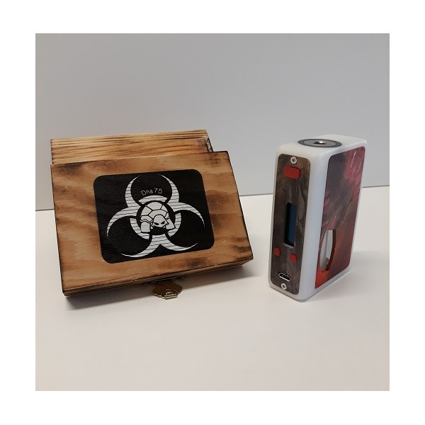 Turtle Mod BioSquonk Nano White Delrin & Hybrid Red Door
