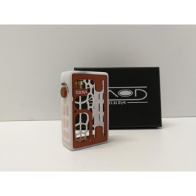 Turtle Mod Nuda White Delrin & Brown Alu Door
