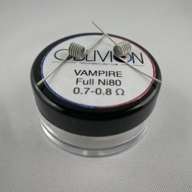 Oblivion Handmade Custom Coils Vampire Full Ni80 0,7/0,8 ohm