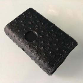 Lattuga Cover Billet Box Vitello Black Ginocchio di Struzzo