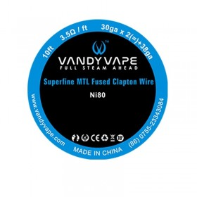 Vandy Vape Superfine MTL Fused Clapton Wire NI80 30gaX2 + 38ga