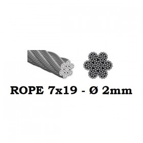 Stainless Steel Wire Rope 7x19 2mm