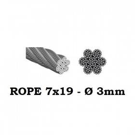 Stainless Steel Wire Rope 7x19 3mm