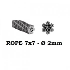 Stainless Steel Wire Rope 7x7 2mm