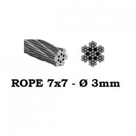 Stainless Steel Wire Rope 7x7 3mm