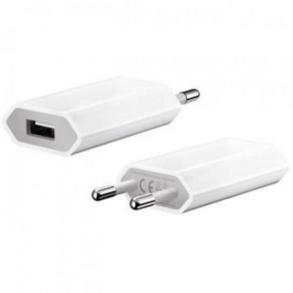 CARICABATTERIA USB SLIM DA MURO BIANCO