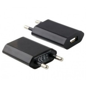 CARICABATTERIA USB SLIM DA MURO NERO