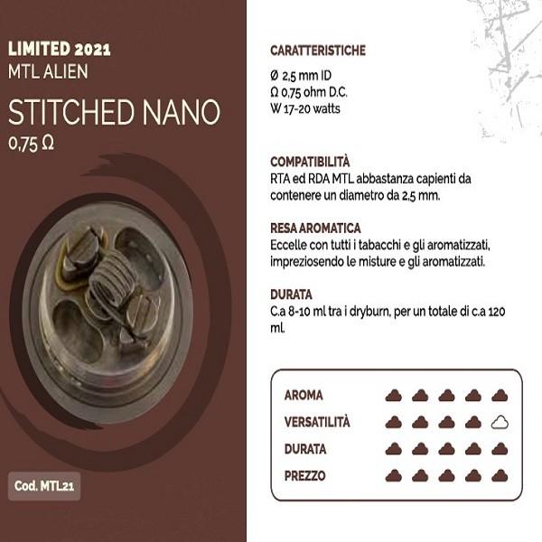 Breakill\'s Alien Lab Limited 2021 MTL Alien Stitched Nano 0.75 ohm